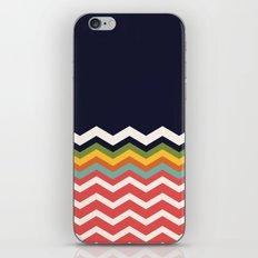 Retro Chevrons (salmon and navy) iPhone & iPod Skin