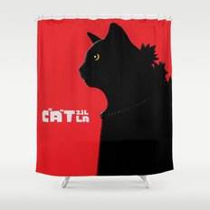 Catzilla Shower Curtain