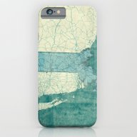 Massachusetts Map Blue V… iPhone 6 Slim Case