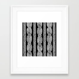 Framed Art Print - Cable Row Black - Project M