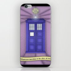 Tardis stained glass iPhone & iPod Skin