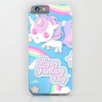 iPhone & iPod Case featuring Happy Unicorn by Kami