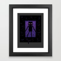 Here comes the Enderman! Framed Art Print