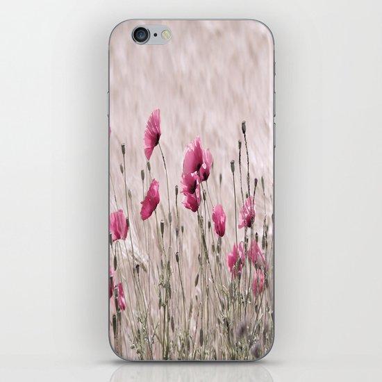 Poppy Pastell Pink iPhone & iPod Skin