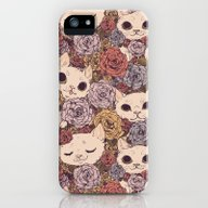 Floral Cat Pattern iPhone (5, 5s) Slim Case