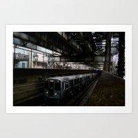 Subterranean Ascent  Art Print