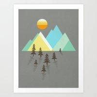 Asphalt Sun Art Print