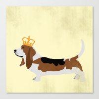 Royal Basset Hound Dog  Canvas Print