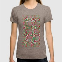 Do Nuts ! Womens Fitted Tee Tri-Coffee SMALL