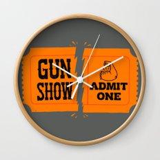 Ticket to the Gun Show Wall Clock