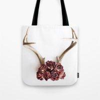 Floral Antlers II Tote Bag