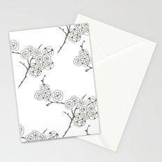 Japanese Trees ( Japan, Asia, Black-White, Delicate, Elegant print ) Stationery Cards