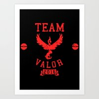 Team Valor Art Print