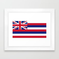The State flag of Hawaii - Authentic version Framed Art Print