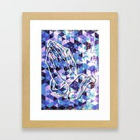 Prayer Prism (blue) Framed Art Print