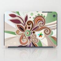 Floral curves iPad Case