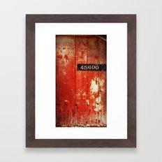 Old Red Door Framed Art Print