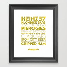 Pittsburgh — Delicious City Prints Framed Art Print