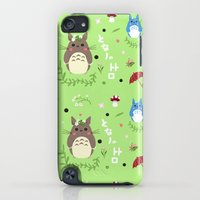 iPod Touch Cases featuring Ghibli pattern by Sophie Eves