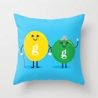 Throw Pillow featuring G&G's by Mouki K. Butt