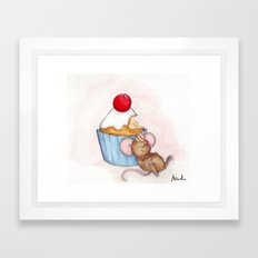 Cupcake Mouse Framed Art Print