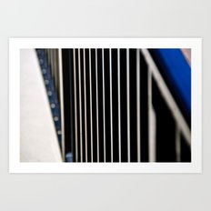 Abstraction in the Metal Fence Art Print