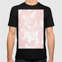 Blush Pink Watercolor Dr… Mens Fitted Tee Tri-Black SMALL