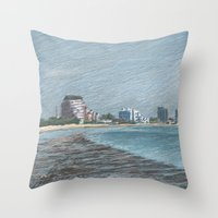 Revere Beach 1 Throw Pillow