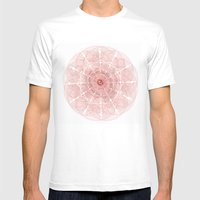Mandala Rose  Mens Fitted Tee White SMALL