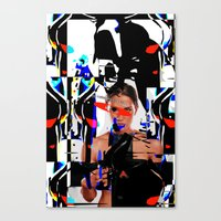 The girl of surealism Canvas Print