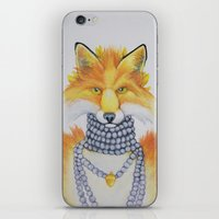 Fox Fur and Pearls iPhone & iPod Skin
