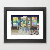 Framed Art Print featuring Neighbourhood by DÖNU