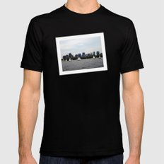 Boston skyline SMALL Black Mens Fitted Tee