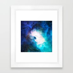 Space Rain Framed Art Print