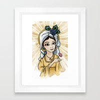 Princess Caraboo Framed Art Print