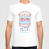 Street burger  Mens Fitted Tee White SMALL