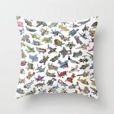 Sky Tusslers Throw Pillow