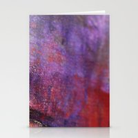 Red Vastness Stationery Cards