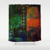 A Night In Chicago Shower Curtain