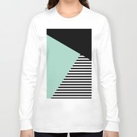 Mint Color Block with Stripes // www.penncilmeinstationery.com Long Sleeve T-shirt