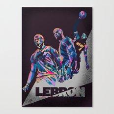 Lebron James NBA Illustration serie 3 of 3 Canvas Print