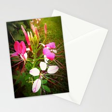 flowers in pink Stationery Cards
