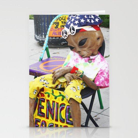 Venice Beach Alien Stationery Card