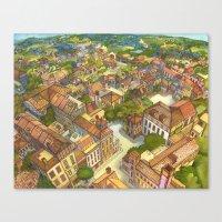 Aerial Landscape Canvas Print