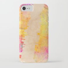 New York city map colored Slim Case iPhone 7