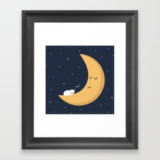 The Cat and the Moon Framed Art Print