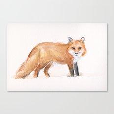 Fox Watercolor Canvas Print