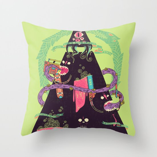 Ourobouros Throw Pillow