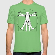 Vitruvian Stormtrooper Mens Fitted Tee Grass SMALL