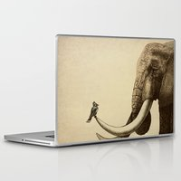 elephant Laptop & iPad Skins featuring Old Friend by Eric Fan